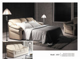 Echtes Lederrecliner-Sofa (2425)