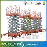 2016 El peso ligero 1ton Plataforma hidráulica elevadora de tijera