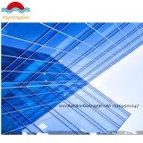 Curtainerの壁を構築するための銀製の反射ガラス