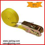 """1 de """" cinta infinita amarela da catraca do poliéster X 20 ' (personalizada)"""