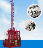 単一のケージまたは二重ケージが付いている貨物のための構築の起重機