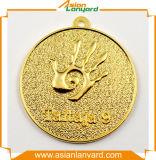 Подгонянное медаль спорта с тесемкой