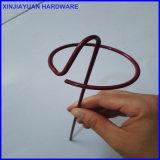 グラスクロスのResumable GのタイプQ235の芝地ピンのための鉄条網のステープル