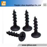 Vis Drilling phosphatée noire de mur de pierres sèches d'arrière d'individu d'entraînement de DIN18182 Phllips