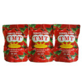 Inserimento di pomodoro organico del sacchetto 70g con la marca di Tmt di alta qualità