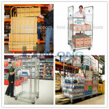 Metall Storage Wire Mesh Cages mit Wheels