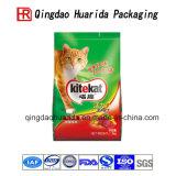 Colocación del bolso para arriba laminado del acondicionamiento de los alimentos de animal doméstico
