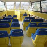 шлюпка пассажира кабины 30seats FRP с внешним двигателем