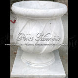 Piantatrice bianca MP-231 di Carrara della piantatrice di pietra di marmo del granito