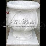 Piantatrice di pietra bianca di Carrara per la decorazione domestica MP-231