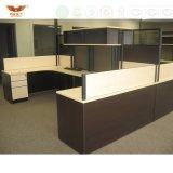 Poste de travail modulaire avec des meubles de bureau d'écran de partition