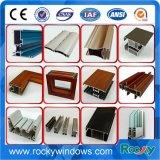 Profil en aluminium d'extrusion de guichet d'enduit de poudre et d'alliage de porte