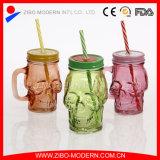 جليد شعبيّة - شراب باردة [مسن جر] زجاجيّة مع مقبض وتبن