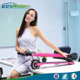 """""""trotinette"""" elétrico de 2 rodas que dobra o """"trotinette"""" elétrico do retrocesso da fibra sem escova do carbono de 350W 24V"""