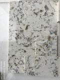 Pedra artificial de quartzo da cor branca quente da venda para a parte superior da vaidade