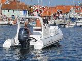 Bateau de pêche de qualité de Liya avec le bateau gonflable de côte de petite fibre de verre du moteur 5.8m