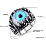 남자의 최고 차가운 발톱과 독아 우울증의 눈 티타늄 강철 반지