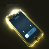 Nieuw Arrival SOFT TPU met Fashion DIY Design LED Shinning Case voor iPhone 5 6 LED Light Phone Case