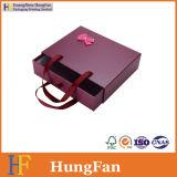 Caja de embalaje de desplazamiento de papel del cajón de la cartulina de encargo para los regalos