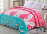 Engrossar único, cobertor impresso dobro, enorme do poliéster do cobertor da flanela (SR-B170316-15)