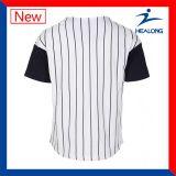 Chemises blanc faites sur commande de Jersey du base-ball de base-ball de la jeunesse