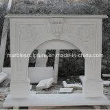 Camino di marmo bianco della decorazione della casa di prezzi più bassi (SY-MF132)