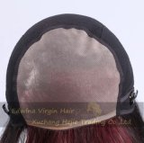 Ombre 짧은 Handmade 인간적인 Virgin 머리 가득 차있는 레이스 정결한 가발
