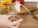 Ciotola di insalata di vetro del diamante trasparente privo di piombo di disegno di 100% Sx-023