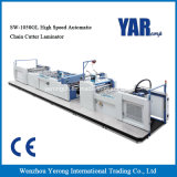 Máquina que lamina de la mejor del precio Sw-1050gl película automática de alta velocidad del cortador de urdimbre con Ce