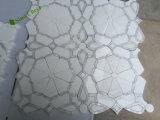 Mosaico de piedra de mármol natural cuadrado del jet de agua para la decoración del hotel
