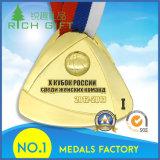 Изготовленный на заказ глянцеватые продукты медали металла отделки плакировкой бронзы серебра золота