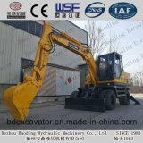 Baoding 8,5 toneladas de movimiento de tierra Maquinaria Pequeña excavadora de ruedas para la venta