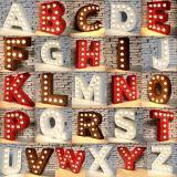 letras do inglês da luz de bulbo da decoração 3D