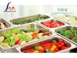 La GN lourde filtrent, des conteneurs de Gastronorm, 304 l'acier inoxydable, on classent, couvercle/couverture