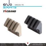 Keymod lanterna elétrica Offset do trilho de um Picatinny de 45 graus/montagem acessória (3 slot/1.5 polegada) Tan