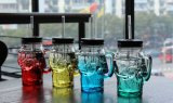 Trinkender Becher-Schädel-Glasflaschen-Schädel-Glasbehälter