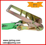 "cinta lisa 4 "" verde da catraca de 4 "" ganchos de X 20 '"