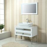 Niedriges White Basin mit White Longer Drawers Bathroom Cabinets (Aluminiumlegierungfüße einschließen)