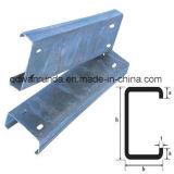 Canaleta de aço entalhada galvanizada do suporte C