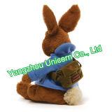 ليّنة [ستثفّ نيمل] قطيفة لعبة مع رسول حقيبة بيتر أرنب