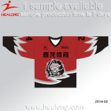 Sublimation Conception personnalisée V Neck Ice Hockey Jersey Wear