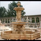 Fontaine en travertin d'or pour artisanat Mf-571