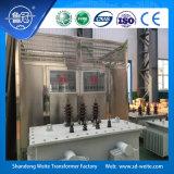 transformador Dry-Type da distribuição do baixo ruído 11kv refrigerado a ar com caso da proteção