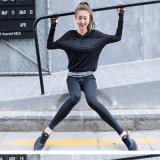 Длинний износ гимнастики рубашки сетки черноты рубашки гимнастики втулки