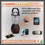 Luz solar de 36 diodos emissores de luz para acampar com dínamo, USB (SH-1990D)