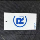 Etiqueta de papel de encargo de la caída del precio de la escritura de la etiqueta RFID de la ropa para la ropa