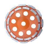 Roda de moedura dobro do copo do diamante da fileira da alta qualidade para o concreto