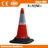 Schwarze Datenbahn-hoher Verkehrs-Straßen-Arbeits-Kegel der Unterseiten-910mm