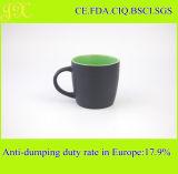 Tazze di caffè di ceramica del rifornimento della fabbrica di tono diretto di Doule, tazza di caffè del gres