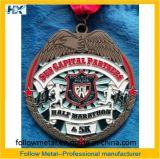 半分のマラソン、警察、リーグのためのカスタマイズされた記念品メダル